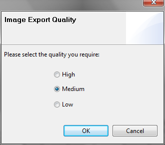 Image export quality popup.